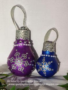 Craft my life: Upcycling Light bulbs for Christmas!