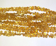 Fanta Tourmaline Smooth Pear Briolette Gemstone Beads 4X6-6X9mm AAA 8 Inch #Unbranded