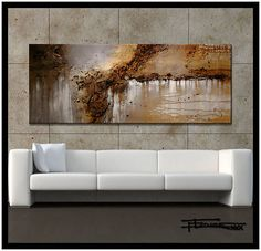 XL MODERN ABSTRACT PAINTING CANVAS WALL ART...ELOISExxx