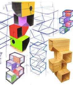 Catissa is a brand new modern cat climbing structure designed by Russian industrial design studio Mojorno. The angular boxes stack on top of each other and attach to the wall at any height providing a climbing and perching structure that. Homemade Cat Tower, Diy Cat Tower, Purple Heart Wood, Cat Heaven, Cat House Diy, Son Chat, Cat Towers, Cat Tunnel, Cat Climbing