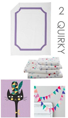 Mix and Match Bedding: Quirky Girl
