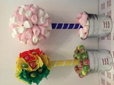 Traffic light lolly tree and marshmallow tree