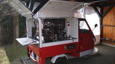 Piaggio APE 50, coffee to go, catering, espresso, káva na cestách, cargo Coffee, Piaggio Ape, Coffee To Go, Hot Dogs, Espresso, Catering, Pictures, Espresso Coffee, Catering Business, Gastronomia