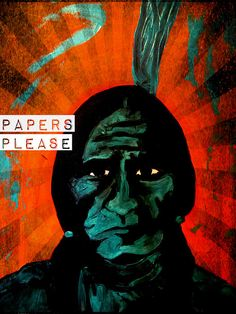 Sitting Bull asks for your papers http://michelle-wilmot.artistwebsites.com/featured/papers-please-michelle-wilmot.html?viewall=true