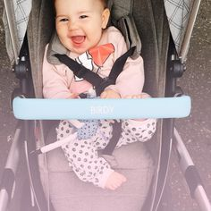 This is the way she rolls on the school run. How cute is her personalised buggy bar too?  we often call her birdy or little bird as her middle name is Kittiwake. She likes to use it as a foot rest as you can see. P.S I cannot keep socks on this girl no point even trying