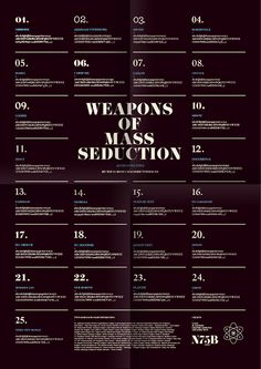 Weapons of Mass Seduction, typography