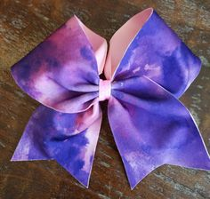 Pink and Purple Tie Dye Cheer Bow / Dance Bow / Softball Bow by AminaCrafts on Etsy