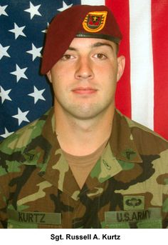 Army Sgt. Russell A. Kurtz  Died February 11, 2007 Serving During Operation Iraqi Freedom  22, of Bethel Park, Pa.; assigned to the 3rd Battalion, 509th Parachute Infantry Regiment, 4th Airborne Brigade Combat Team, 25th Infantry Division, Fort Richardson, Alaska; died Feb. 11 of wounds sustained when an improvised explosive device detonated near his vehicle during combat operations in Fallujah, Iraq.