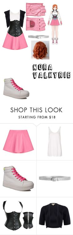 """Nora Valkyrie Cosplay"" by lord-nightshade on Polyvore featuring RED Valentino, Topshop, Rocket Dog, Alivila.Y Fashion, Michael Kors, Pink and RWBY"
