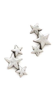 Avant Garde Paris Star Earrings $50 http://www.shopbop.com/star-earrings-avant-garde-paris/vp/v=1/1584338530.htm?folderID=13169=other-shopbysize=34594