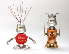 Keelox and Bradford - Found Object Robot Assemblage Sculptures By Brian Marshall by adopt-a-bot, via Flickr