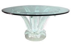 Marc Lalique's incredible and renowned Cactus Table was designed in the early and is one of the most influential and important pieces ever made by Lalique. Table Maker, Marble Top, Art Deco Table, Table, Vintage, Glass, Marble Table Top, Art Deco, Coffee Table