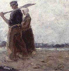 Jan Toorop, Huiswaartskeren / Head for home - 1885