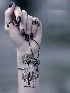 tatuagem, tattoo, árvore, mulher, meninas, feminina                                                                                                                                                                                 Mais