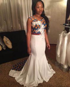 Beautiful shweshwe traditional wedding dress 2019
