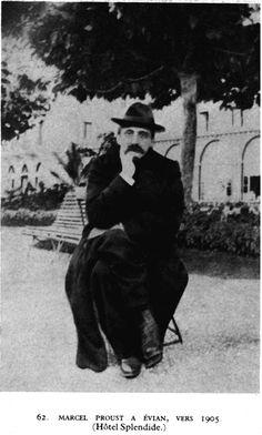 Marcel Proust à Evian, vers 1905.