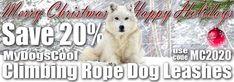 Save 20% on All MyDogsCool Handmade Climbing Rope Dog Leashes. Rope Dog Leash, Climbing Rope, Big Dogs, Dog Training, Handmade, Rock Climbing Rope, Hand Made, Dog Training School, Large Dogs