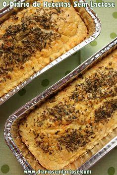 O Diário de Receitas Sem Lactose: Torta Básica de Liquidificador Sem Glúten Sem Lactose