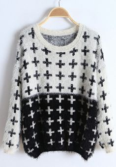 Plus Embroidery Sweater