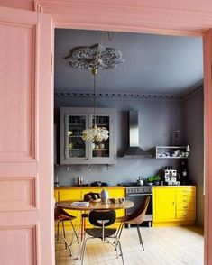 Colour inspiration x100 . You would always ( almost) get happy in this kitchen. Inspiration from @skonahem