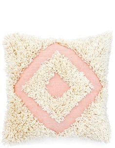 Geo Shag Pillow, 22""