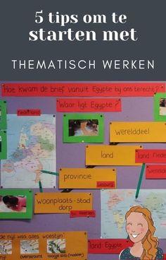 5 tips om te starten met thematisch werken | Klas van juf Linda Family Guy, Map, Education, Blog, Location Map, Blogging, Maps, Onderwijs, Learning