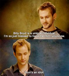 From the Lord of the Rings interviews.