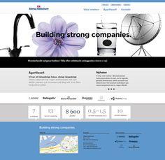 Stena Adactum web site by Katarina Bergström, via Behance