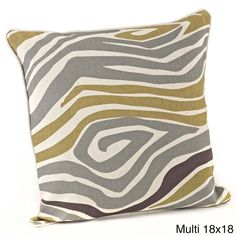 This printed zebra decorative pillow features vibrant coloring and a comfy down interior. Two sizes and shapes are available to fit the need of the room decor.