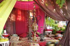 Hookah area at wedding