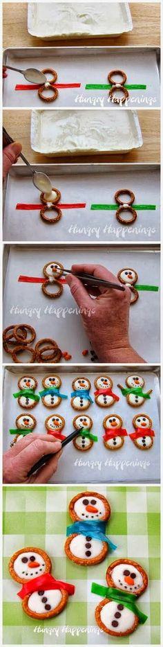 Christmas Special: Frosty Snowman Pretzels