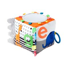This soft activity cube from giggle features your little one's favorite zoo animals and their coordinating alphabet letter for added cuteness and learning. Baby Cubes, Baby Annabell, Baby Learning Toys, Discovery Box, Baby Calm, Activity Cube, Developmental Toys, Zoo Animals, Fine Motor Skills