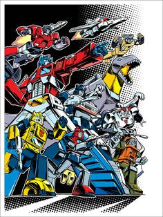 TRANSFORMERS 30th Anniversary Prints by Guido Guidi