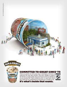 it's what's inside that counts. ben and jerry's chocolate chip cookie dough. LOVE this campaign.