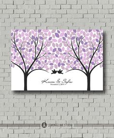 Hey, I found this really awesome Etsy listing at https://www.etsy.com/listing/163939920/wedding-gift-wedding-tree-purple-guest