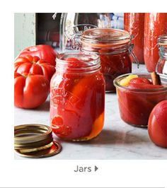 Jars of canned food from Williams Sonoma