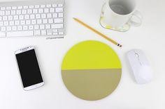Mousepad / Mouse Pad / Color Block Mouse Pad by littlehawthorne
