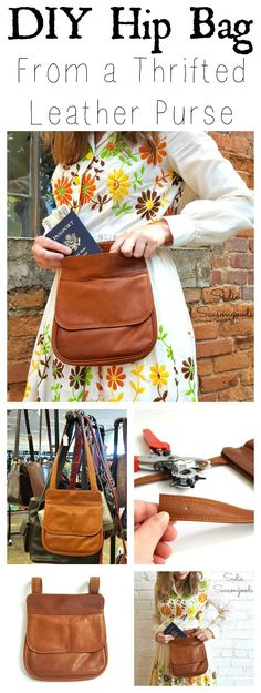 I think we can all agree that while the hands-free functionality of a fanny pack is great, the look is not! So, why not combine a chic look with the security of one by repurposing and refashioning a small thrift store purse? It's easier than you think and you can upcycle one in no time at all. Great as a festival bag, and for keeping your belongings secure while on travel. Love this handy DIY craft project from #SadieSeasongoods / www.sadieseasongoods.com