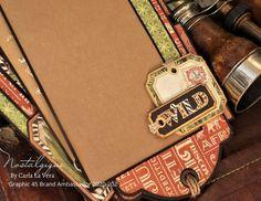 Tag Set with Paper Stitching Tutorial Safari Adventure, Mini Album Tutorial, Simple Embroidery, Graphic 45, Brand Ambassador, Mini Albums, Paper Crafts, Beautiful Clothes, Stitching