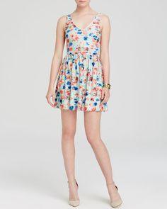 Aqua Dress - Stripe Illusion Fit & Flare