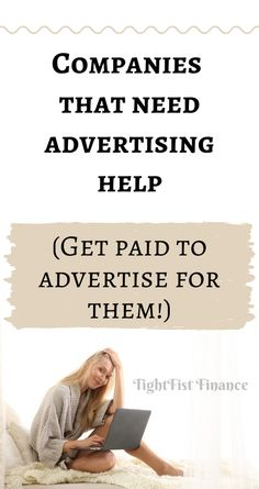 What are the companies that need advertising help and how can I get paid to advertise for them? Here is how to get a company to pay you for advertising. Advertising Strategies, Advertising Services, Earn More Money, Way To Make Money, Household Expenses, How Can I Get, Quitting Your Job, Money Talks, Budgeting Tips
