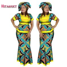 2017 Hitarget African Women 2 Piece Set Dashiki Cotton Print Wax Crop Top and Skirt Set+Head Scarf african kanga clothing WY1210. Yesterday's price: US $63.79 (52.52 EUR). Today's price: US $53.58 (44.20 EUR). Discount: 16%.