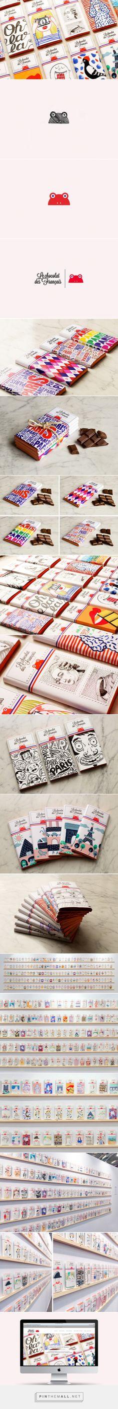 Le chocolat des Français #chocolate #packaging by Paul-Henri Masson - http://www.packagingoftheworld.com/2015/01/le-chocolat-des-francais.html