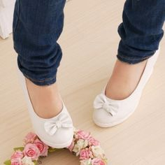 Special Offer Fashion and Sweet Bowknot Embellished Women's Wedge Shoes