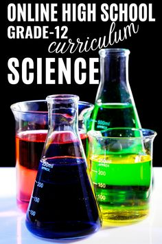 Students should have a demonstrable understanding of the concepts covered in Chemistry before enrolling in the next science School Routine For Teens, School Routines, School Hacks, Curriculum, Homeschool, Online High School, High School Diploma, School Grades, School Essentials