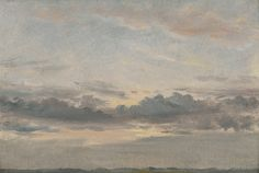 John Constable, 1776–1837, British, A Cloud Study, Sunset, ca. 1821, Oil on paper on millboard, Yale Center for British Art, Paul Mellon Collection