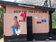 Male toilet, Ghana.