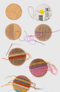 9 Weaving Projects to Get Your New Hobby Going - Brit + Co Crafts To Do, Hobbies And Crafts, Yarn Crafts, Arts And Crafts, Diy Crafts, Weaving Loom Diy, Weaving Art, Tapestry Weaving, Diy Para A Casa