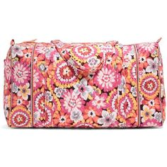 Vera Bradley Large Duffel Travel Bag in Pixie Blooms ($64) ❤ liked on Polyvore featuring bags, luggage and pixie blooms