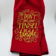 Available at Appli-Ks: Holiday Embroidered Hand Towel, pricing includes monogram